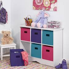 toy storage furniture. New Kids Playroom Nursery Storage Cabinet With 6 Bins, White And Jewel Tones Toy Furniture