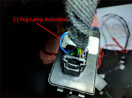 2016 suburban lt fog lamps install with oem switch chevy tahoe Fog Lamp Relay Wiring x5 connector with parking lamp (blue) and fog lamp (brown) relay activation wires and a decent constant 12v source (red white) for the 611t note the fog fog lamp relay switch wiring