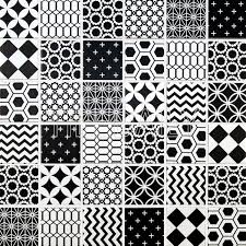 Mosaic Pattern Beauteous Geometric Pattern Mosaic Tile Black And White Tiledaily