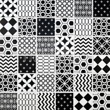 Mosaic Pattern Beauteous Geometric Pattern Mosaic Tile Black And White tiledaily