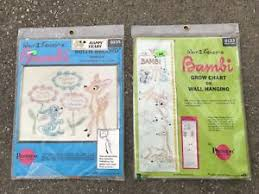 Details About Disney Bambi Sampler Cross Stitch Embroidery Kit Lot Grow Chart Birth Record