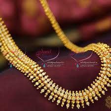 nl3778 beads design ad white gold plated haram long necklace fashion jewellery