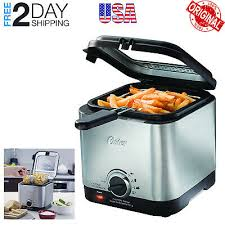 Oster <b>Deep Fryer Stainless</b> Steel Compact Small Mini <b>Electric</b> Home ...