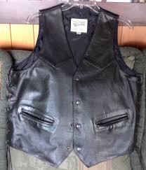 open rd wilson leather motorcycle vest men s