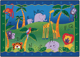 alphabet jungle classroom rug carpets for kids