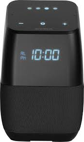 best insignia smart bluetooth speaker and alarm clock with google assistant black ns cspgasp b