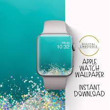 Apple Watch Wallpaper Green Glitter ...