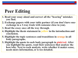 literary analysis essay ppt   your essay aloud and correct all the hearing mistakes you find