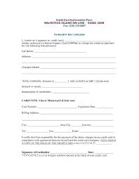 credit card billing authorization form template and authority monthly payment authoriza
