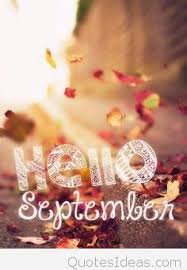 card hello september simple saying