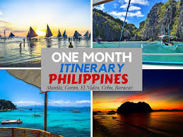 one month in the philippines travel itinerary