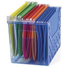 com officemate oic blue glacier desktop file organizer transpa blue 23221 office desk organizers office s