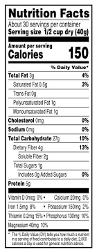 quaker oats 100 whole grain quick 1 minute oatmeal nutrition facts