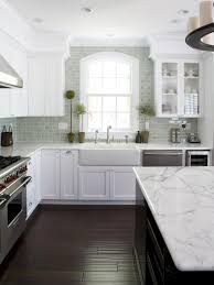 White Kitchens Dark Floors Our 55 Favorite White Kitchens Countertops Cabinets And Window