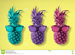 colorful pineapple background. royalty-free stock photo. download colorful pineapple background