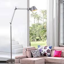 Minimalistische Vloerlamp 15 M Aluminium Hoed Vorm Kantoor
