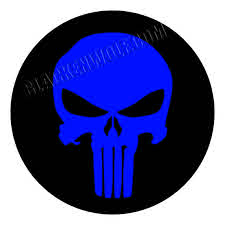 justpict com thin blue line skull