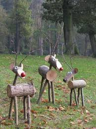 diy reindeer logs these are the best homemade christmas decorations u0026 u2026 on wooden