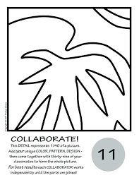Henri Matisse Coloring Pages Book Goldfish By Collaborative Activity