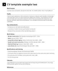 Construction Foreman Resumes Resume Template Free Sample Cv Const