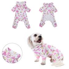 Dog Sleep Pattern Stunning Dog Pajamas Sleep Clothes Cozy Puppy Doggy Home Wear Pet Dog Cat
