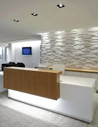 reception desks design beautiful reception desk textured white wall blonde wood and lighting reception desks ideas