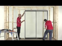 how to install an a l sliding door 2 panel