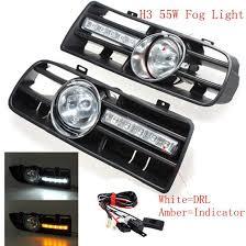 Car Front Bumper Led Lights 2019 Car Front Bumper Grille Driving Fog Lamp Light Set With Led For Vw Golf Mk4 1997 2006 From Fusen16888 67 33 Dhgate Com