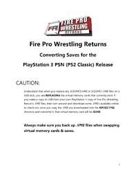 Fire Pro Wrestling Returns Fill Online, Printable, Fillable, Blank ...