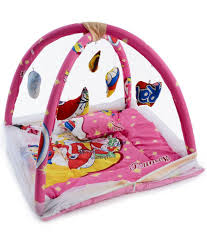 chhote janab pink baby bedding set with mosquito net