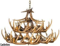 whitetail 24 cast antler chandelier