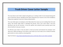 Truck Driver Cover Letter Best Of 49 Sample Resume And Cover Letter