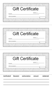 gift certificate 8 5 x 14 black and white with tracking tab