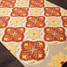 jaipur rugs barcelona malta 2 x 3 indoor outdoor rug red yellow ultimate patio