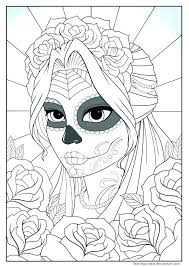 The Day Of The Dead Coloring Pages Day Of The Dead Colouring Pages