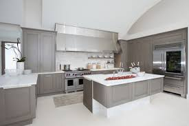 Modern White Cabinets Kitchen Grey Painted Kitchen Ideas With Light Wood Cabinets And
