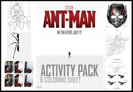 Small Picture Free Ant Man Coloring and Activity Pages
