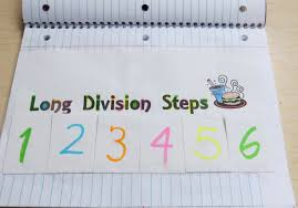 long division anchor chart mnemonic device for learning long division steps