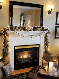 mantel lighting. view in gallery smartly decorated christmas mantel green and white lighting h