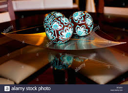 Decorative Tray With Balls Decorative balls on a tray Stock Photo 100 Alamy 2