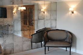 mirror panelled wall