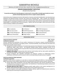 Senior Management Executive Of Forward Focused Manufacturing New Manufacturing Engineer Resume