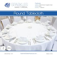 10 pc 120 round polyester cloth fabric linen tablecloth white