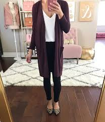 halogen long open front burdy cardigan business casual outfit