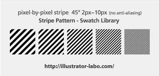 Freebiesピクセルの斜めストライプパターン イラレラボ Illustrator Labo