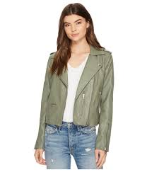 blank nyc green vegan leather moto jacket in matcha lyst view fullscreen