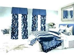 Dark Blue Curtains Solid Sheer Curtain For Window Dark Blue White ...