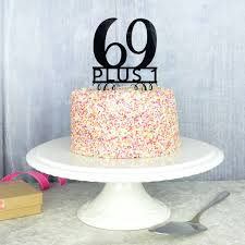 70th Birthday Cake Topper By Pink And Turquoise Notonthehighstreetcom