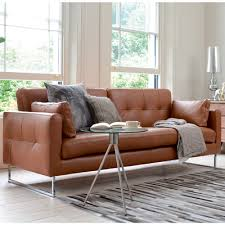 leather sofa bed. Delighful Bed Paris Leather Three Seater Sofa Bed Natural Tan With Leather Sofa Bed A