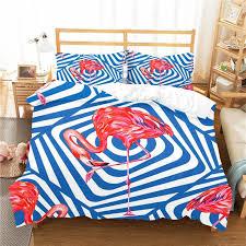 bedding comforter 3d pink flamingo